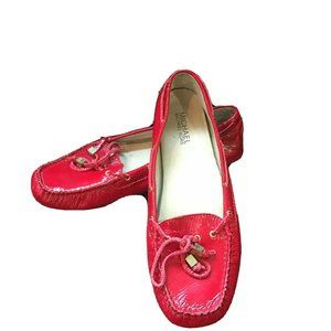MICHAEL KORS ~ Red Patent Leather Loafer Shoes